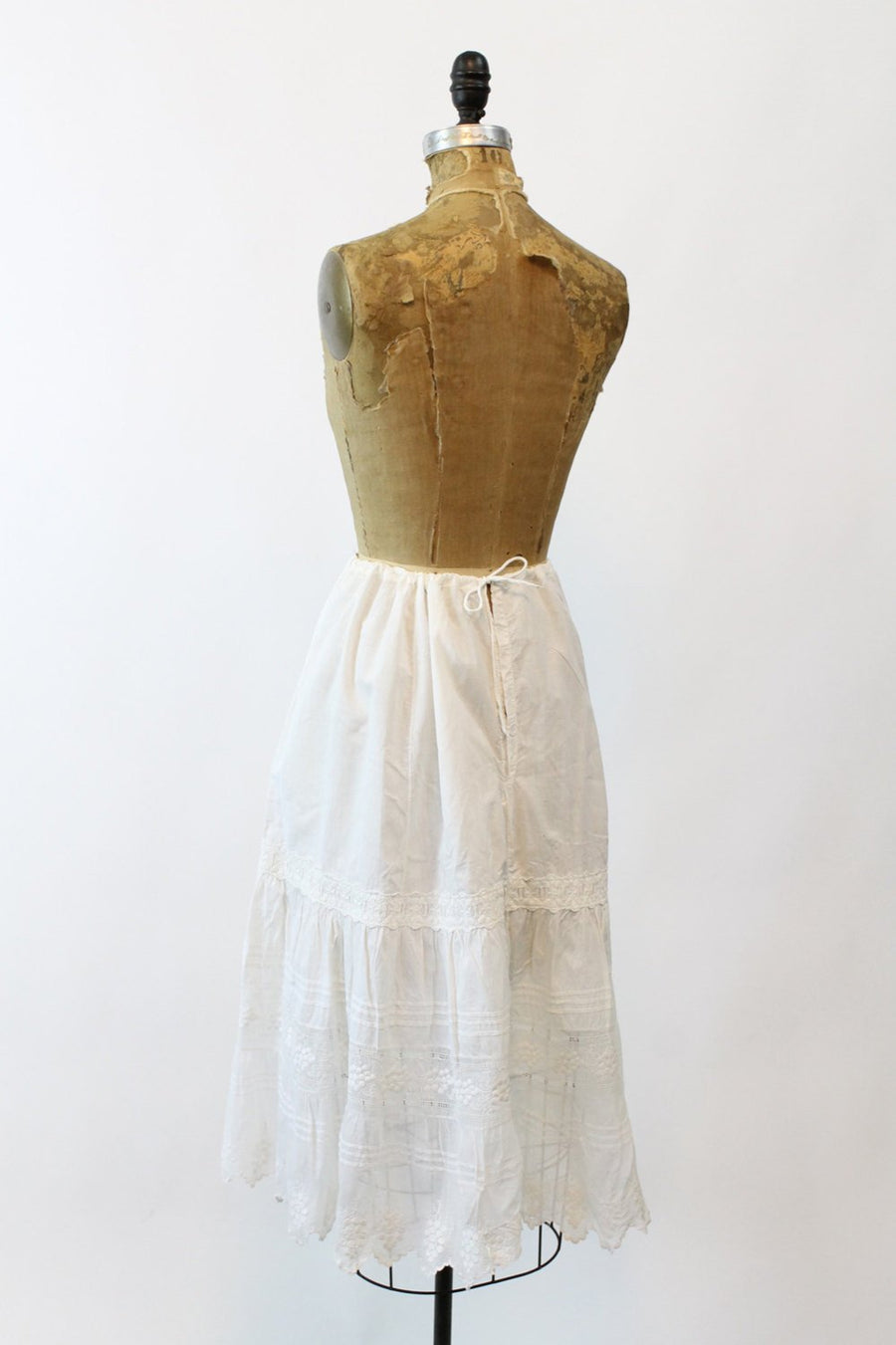 1910s Edwardian grape embroidered skirt small medium |  antique vintage drawstring skirt