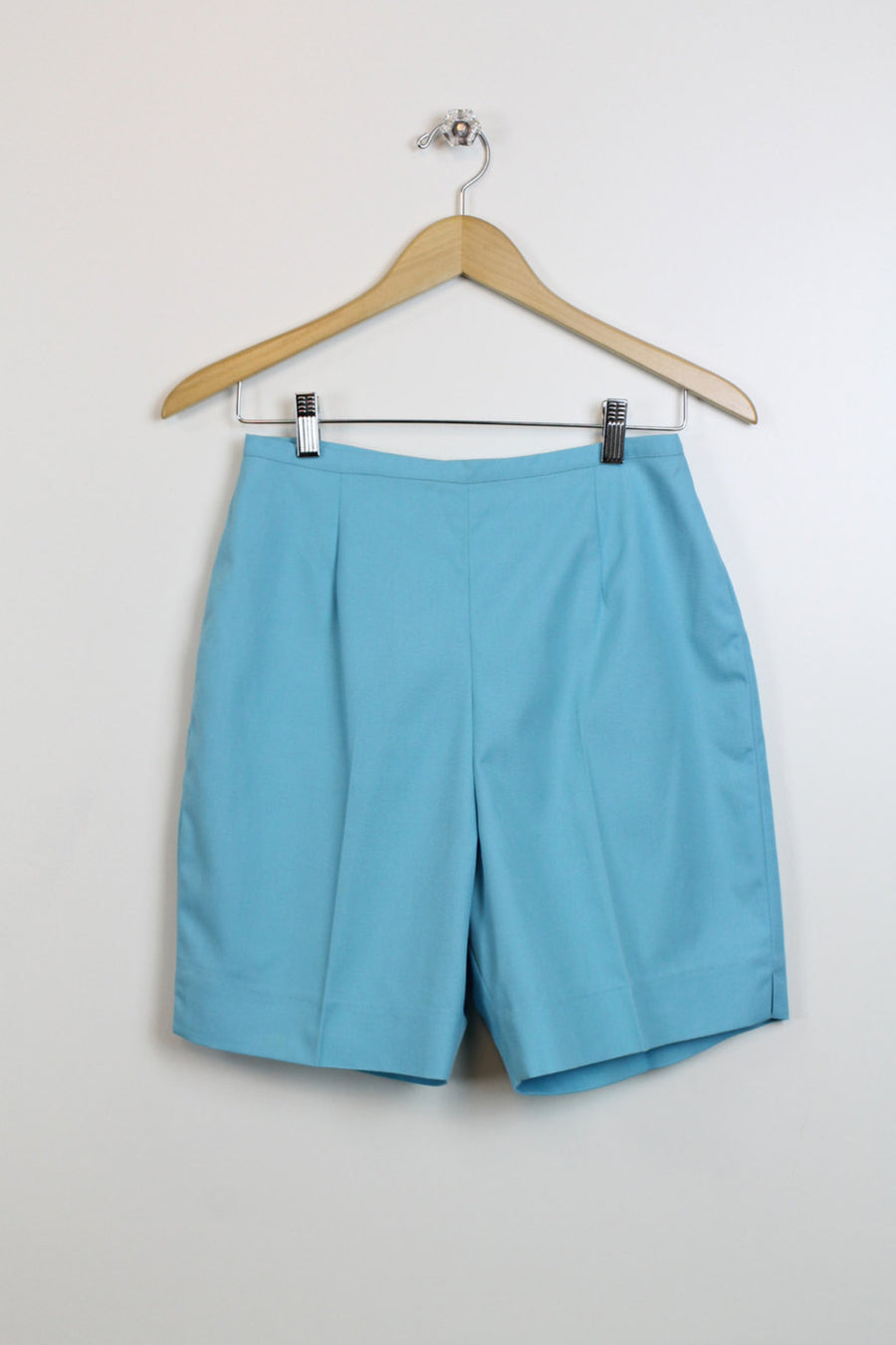 1960s cotton shorts small | vintage high waist shorts