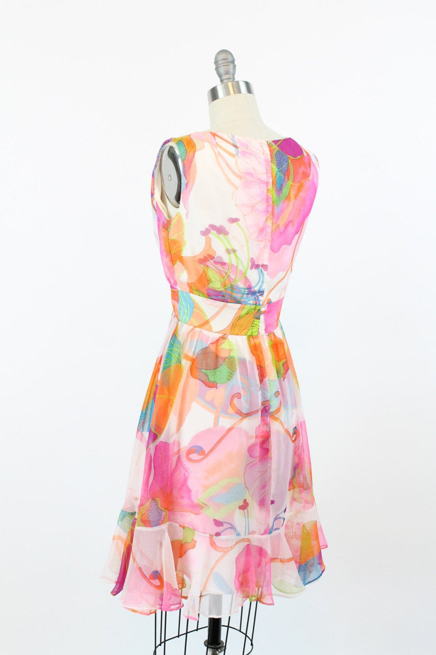 1960s Jack Bryan dress small | vintage organza cocktail dress