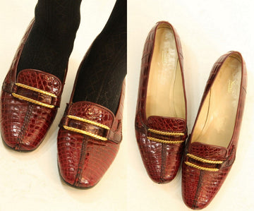 1970s Gucci shoe loafers | gold chain slip on shoes | size 8.5 us