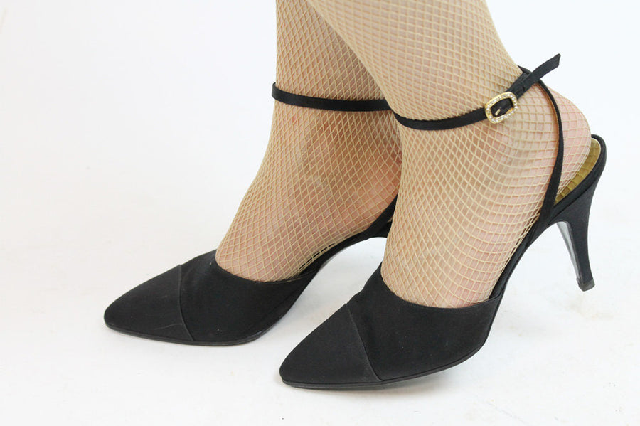 Vintage Chanel shoes size 38/8 | ankle strap designer pumps