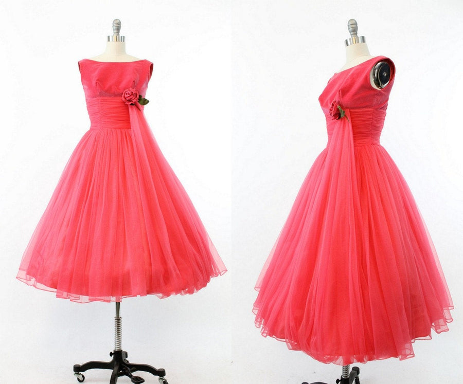 1950s velvet dress xs | vintage cocktail chiffon party dress