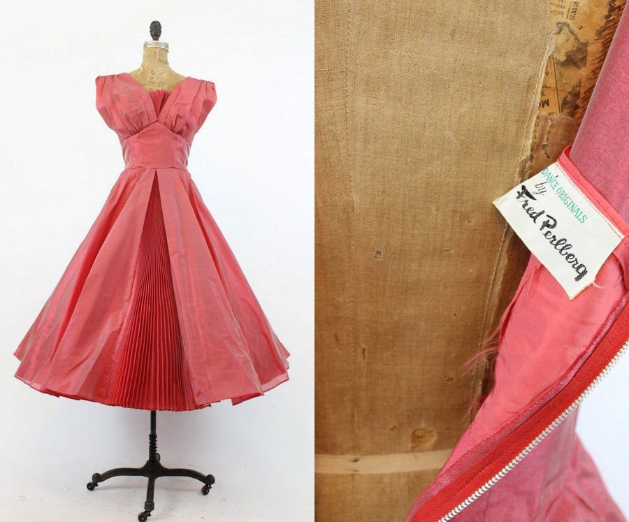 1950s Fred Perlberg dress | silk organza | small