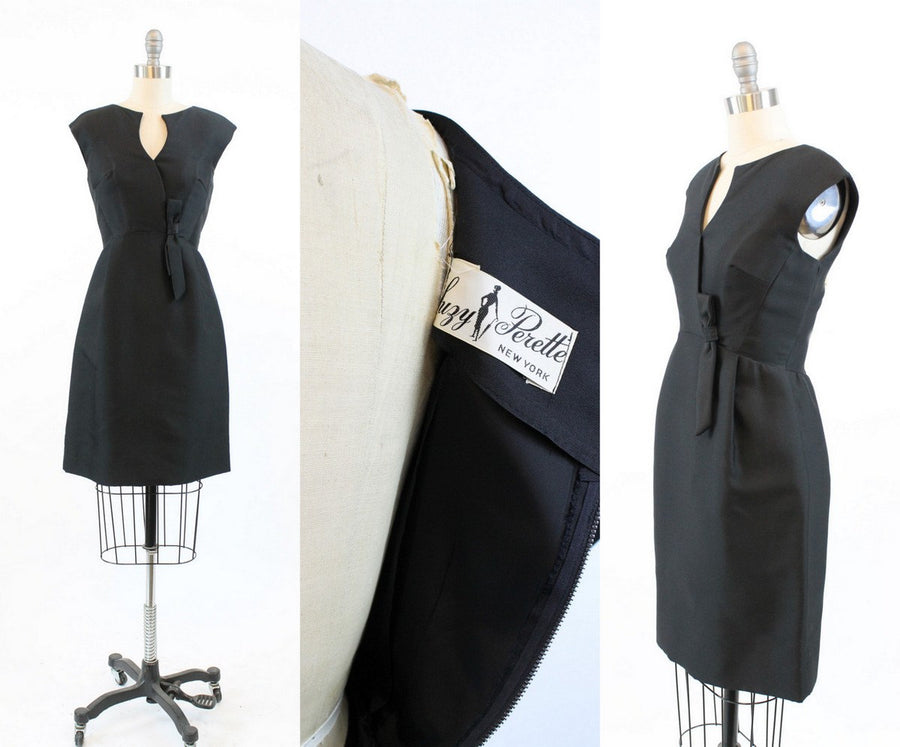 50s Suzy Perette dress xs | vintage silk bow dress
