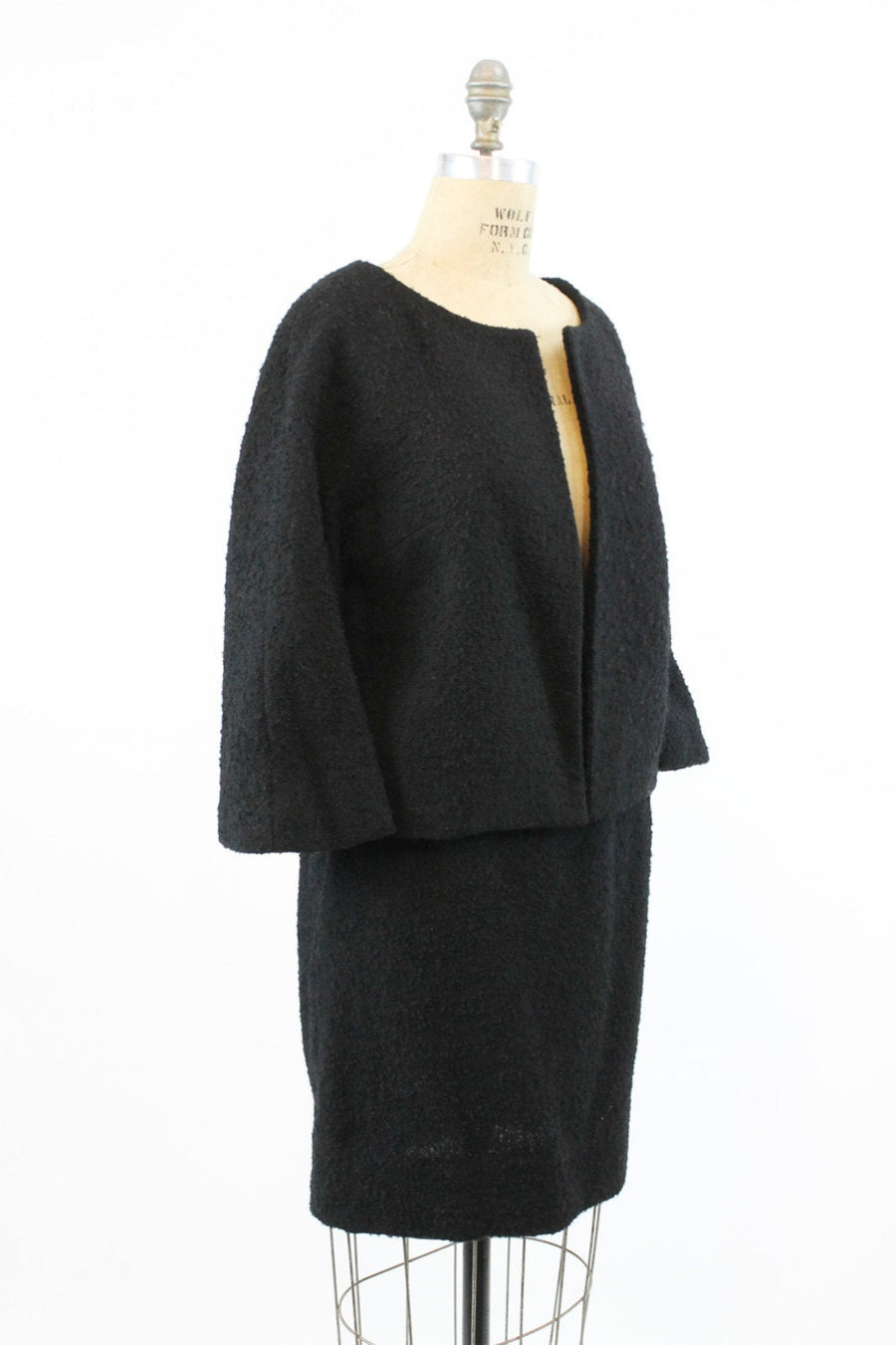 1960s Lilli Ann suit | jacket and skirt wool boucle | small