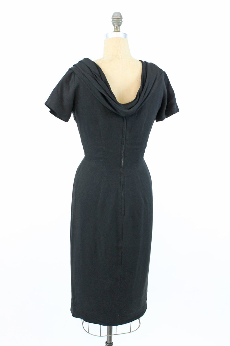 1950s Suzy Perette dress small | vintage draped back dress