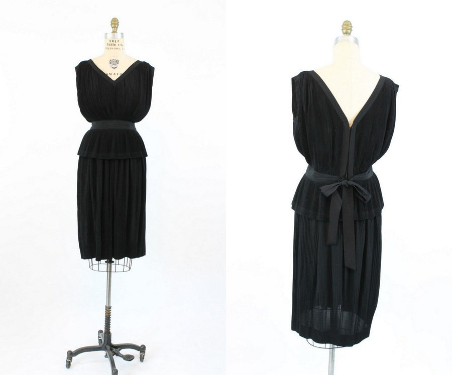 1960s skirt and top | vintage wiggle dress set | small