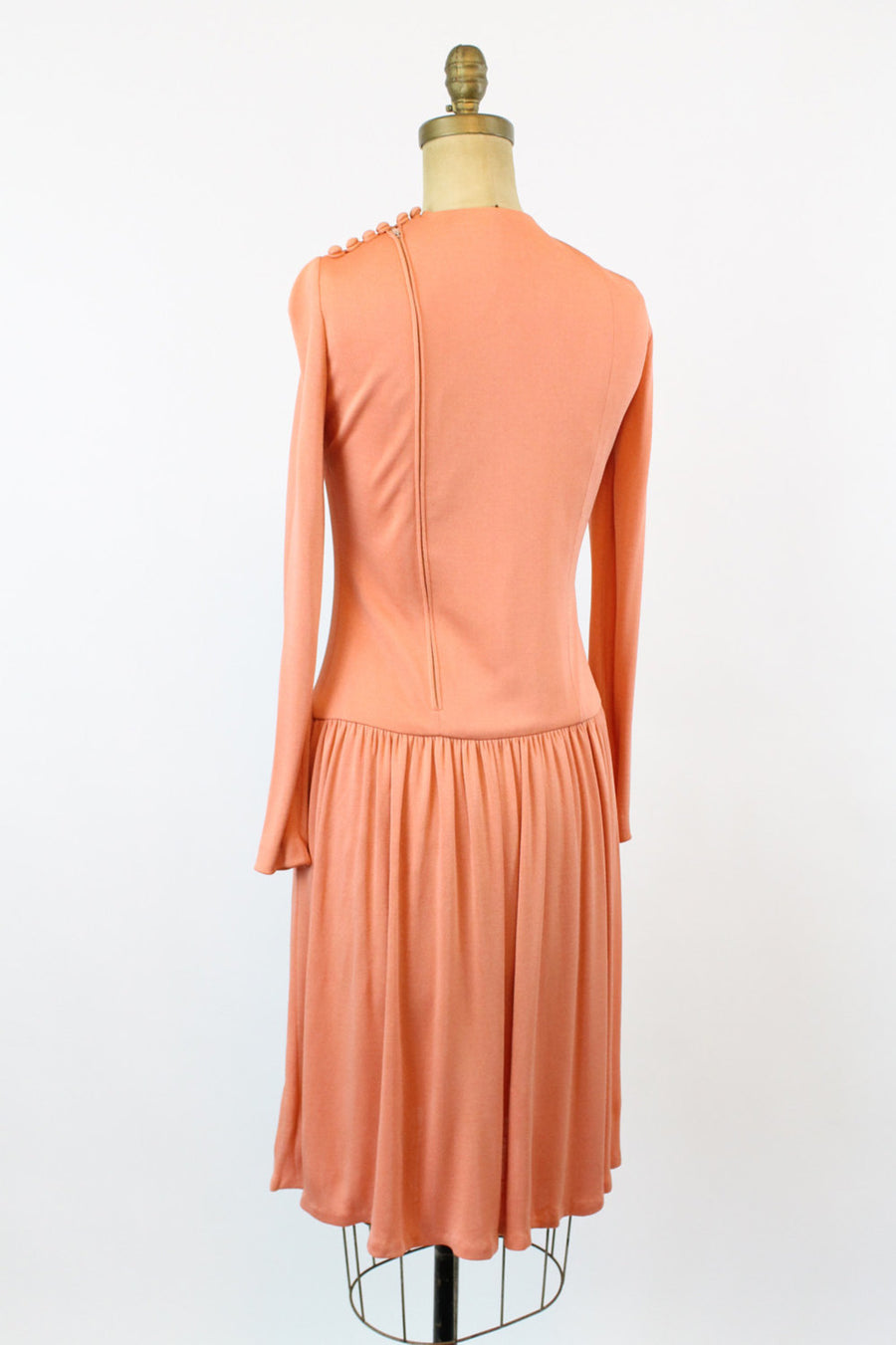 1960s Geoffrey Beene jersey dress small | vintage designer dress | new in