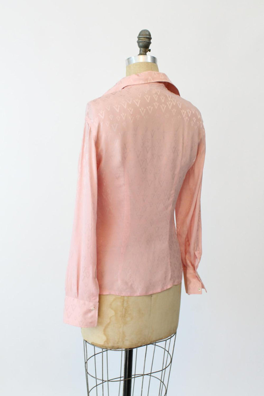1970s Valentino silk logo blouse small | vintage top | new in