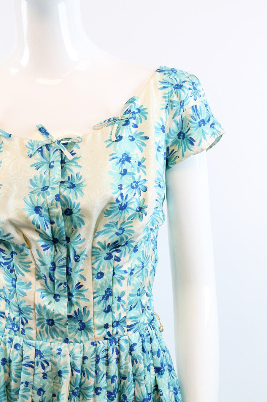 1950s Sophie Gimbel dress xs | vintage saks fifth ave floral silk | new in