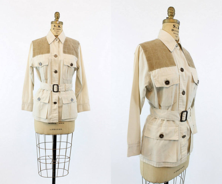 1960s workwear coat | vintage shooting hunting jacket | medium