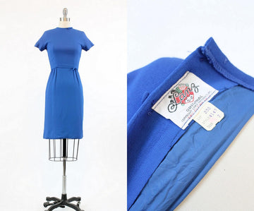 1960s Lanz wiggle dress xxs | vintage rayon dress