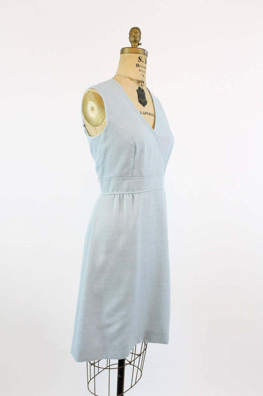 1960s linen shift dress large | vintage Joseph Magnin dress and jacket set