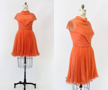 1960s Jack Bryan dress medium | vintage chiffon cocktail dress | new in