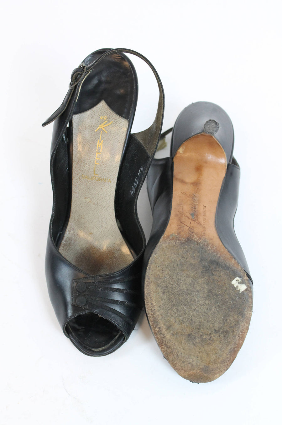 1950s peep toe shoes size 5.5 us | vintage slingbacks | new in
