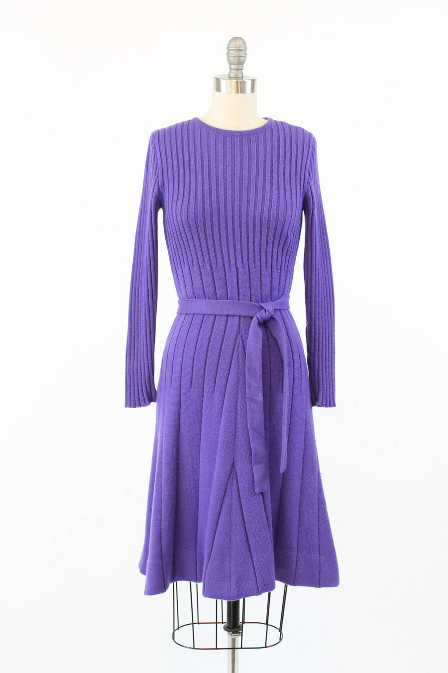 1960s Jean Patou knit dress xs small | vintage plum sweater dress