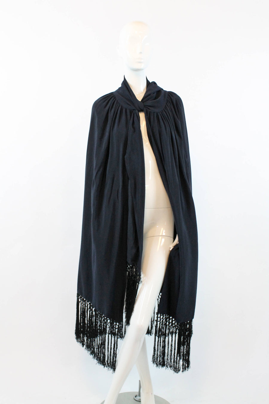 1920s fringe cape silk | wrap skirt | all sizes