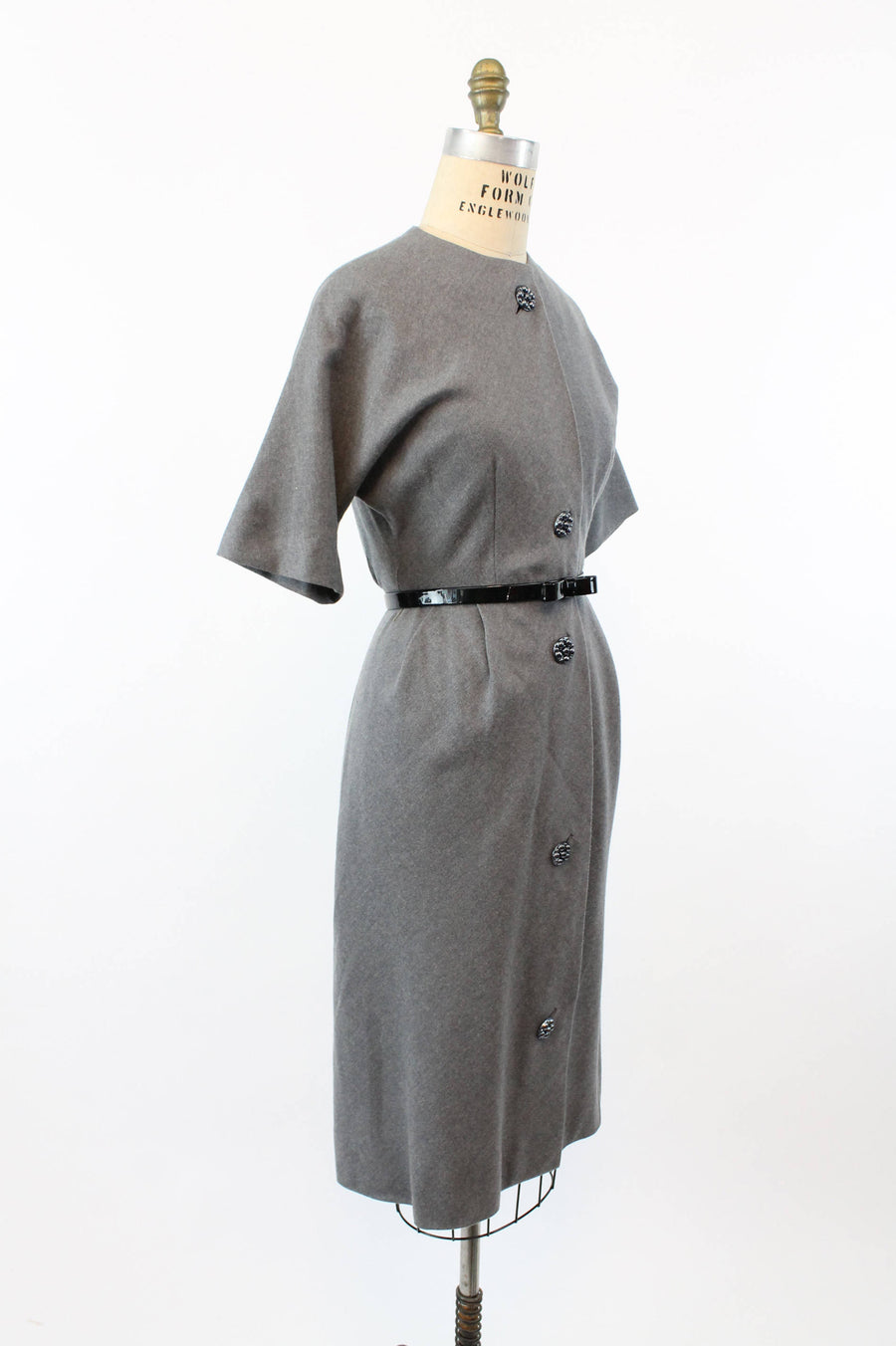 1960s wool dress xs | david crystal gray wiggle dress | new in
