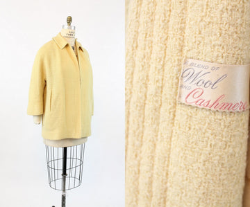 1940s cashmere swing coat | neiman marcus jacket | medium - large