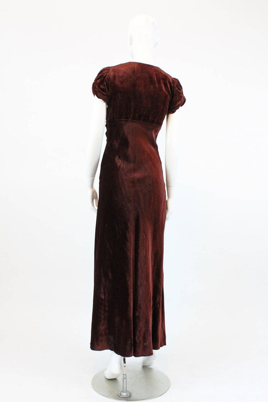 1930s velvet dress | bias cut gown | xs