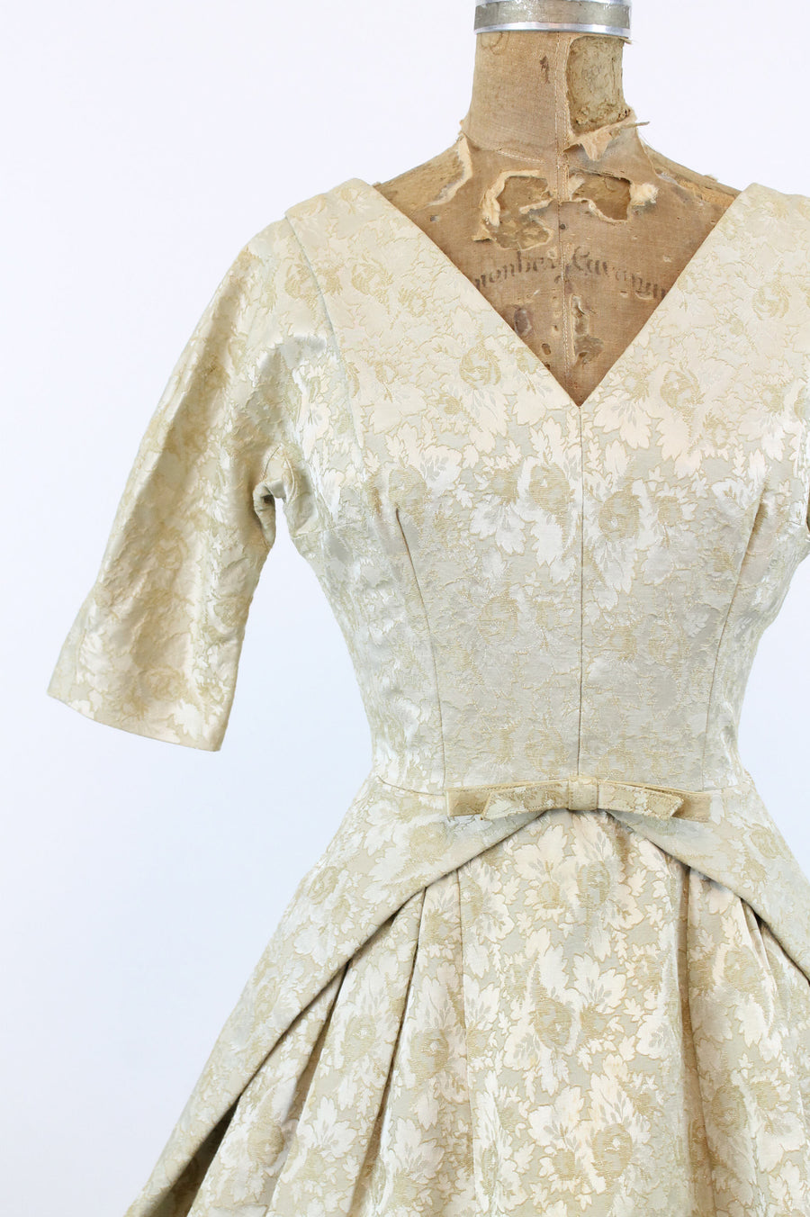 1950s JLF original brocade cocktail dress xs | full skirt party dress
