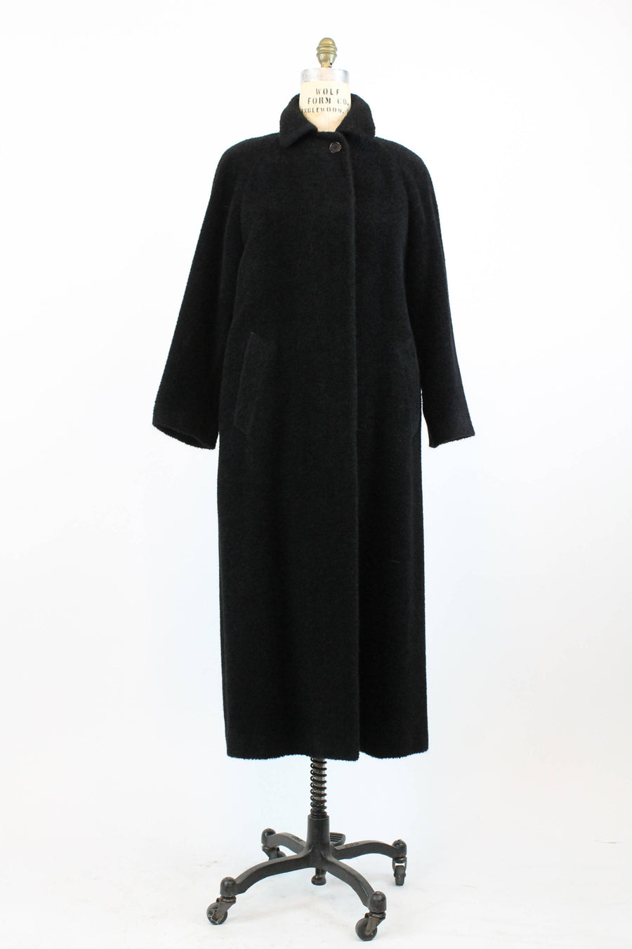 1980s BURBERRY coat large  | vintage wool boucle alpaca