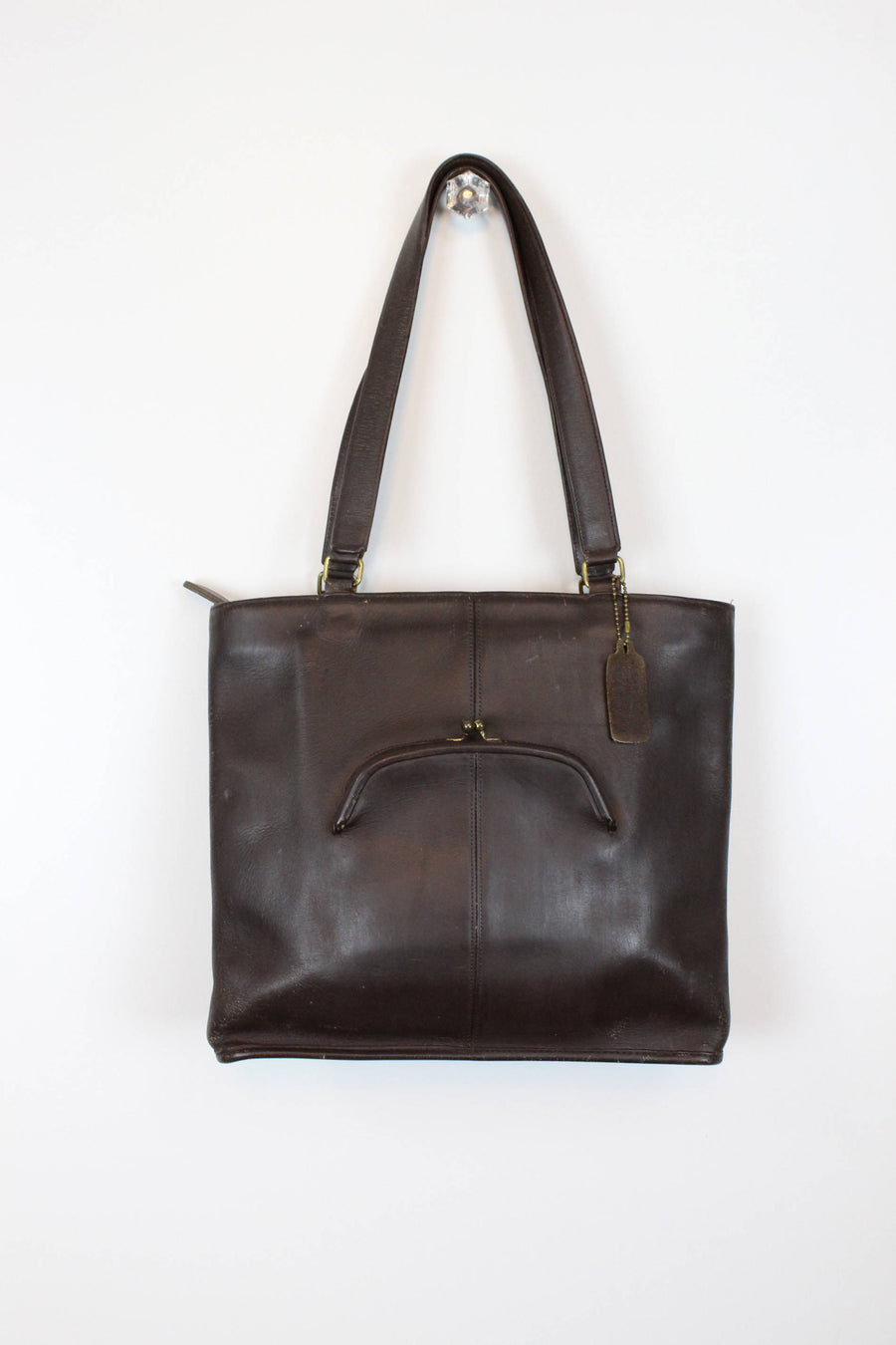1970s Bonnie Cashin era Coach shoulderbag | vintage leather large purse tote