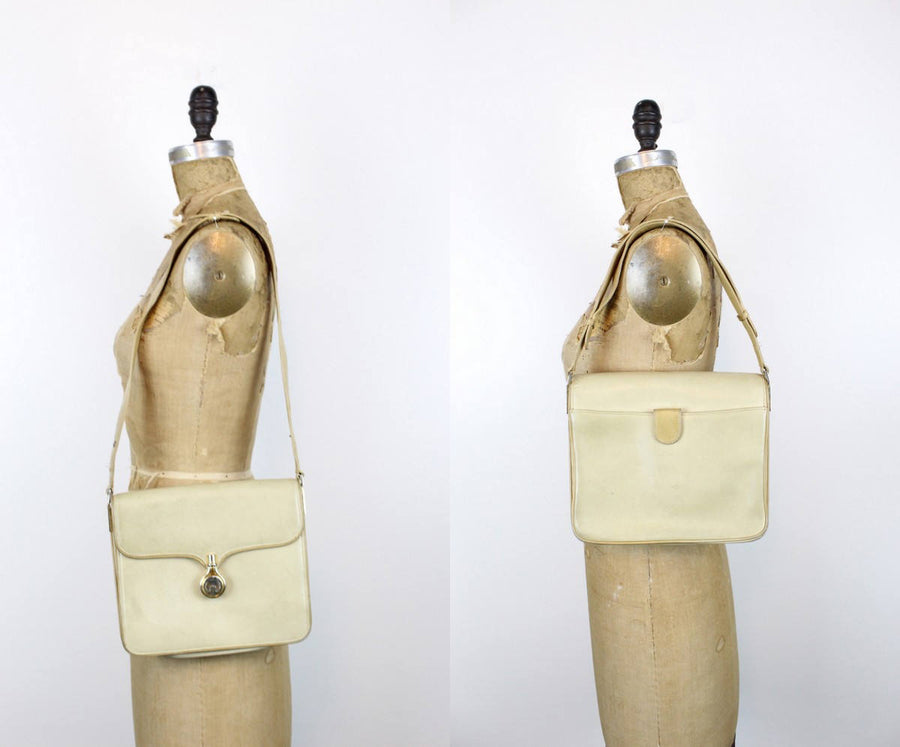 1970s Gucci purse | crossbody satchel | tan leather