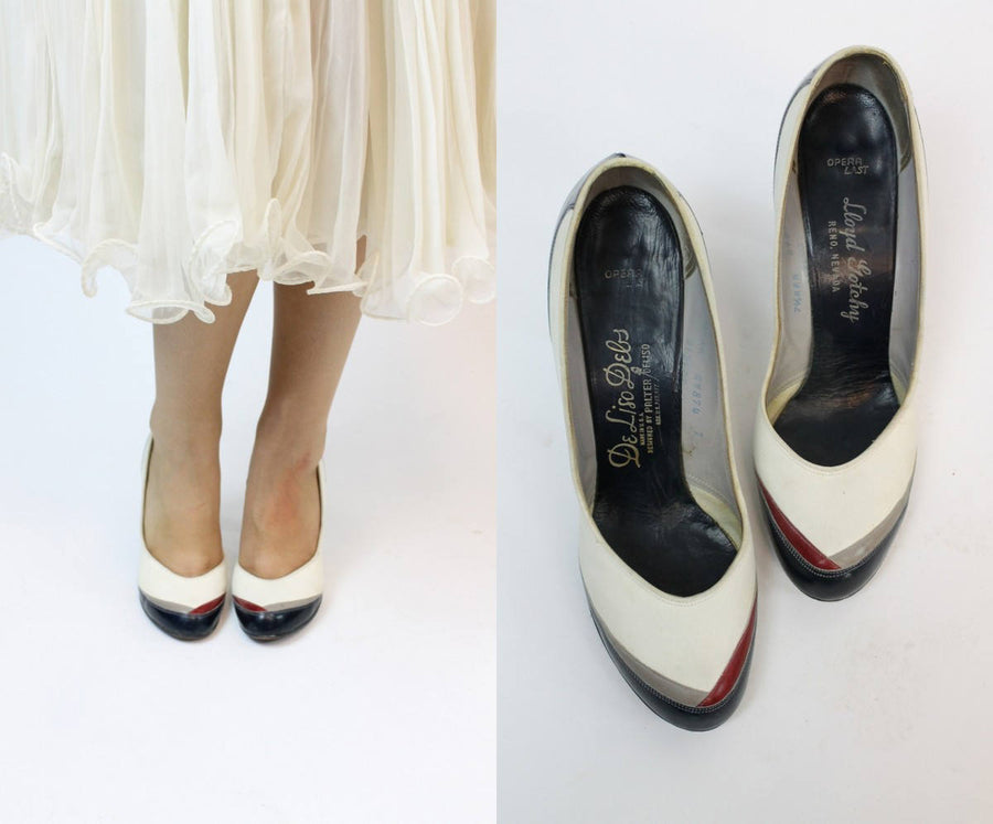 1950s De Liso Debs shoes size 7 us | vintage babydoll pumps