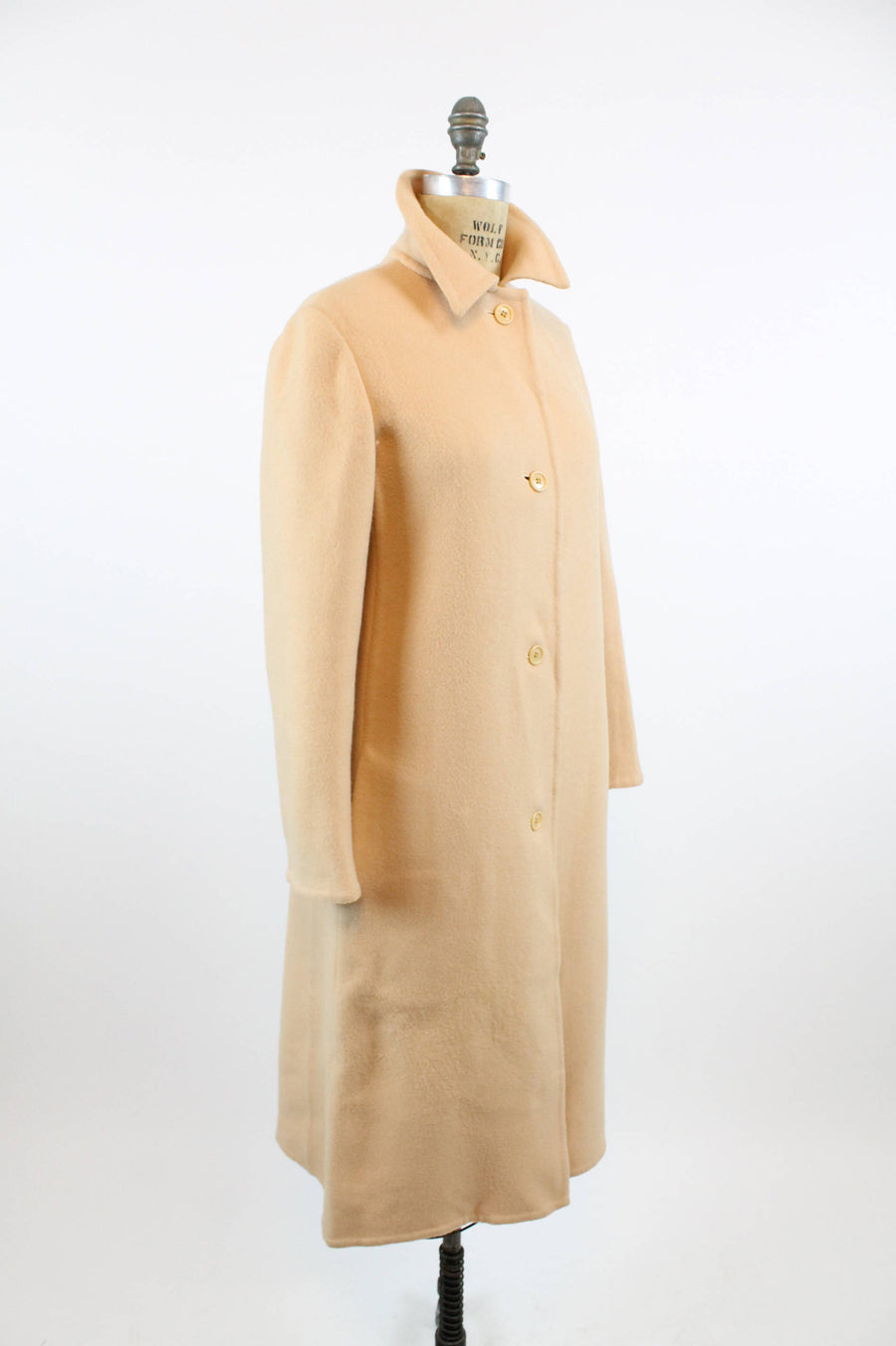 1980s Halston I. Magnin coat | wool trench | small