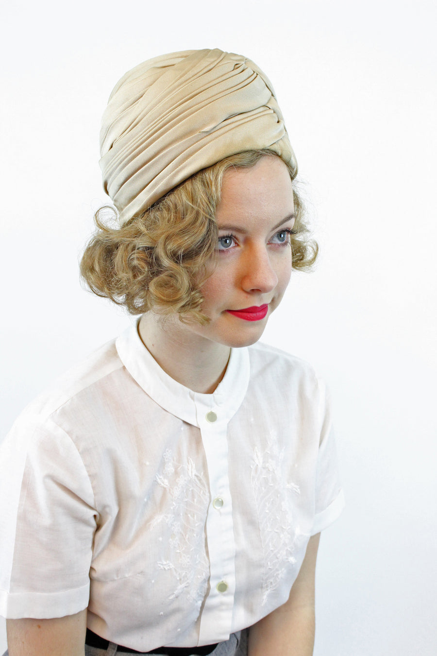 1940s turban hat | silk twist cloche hat | new in