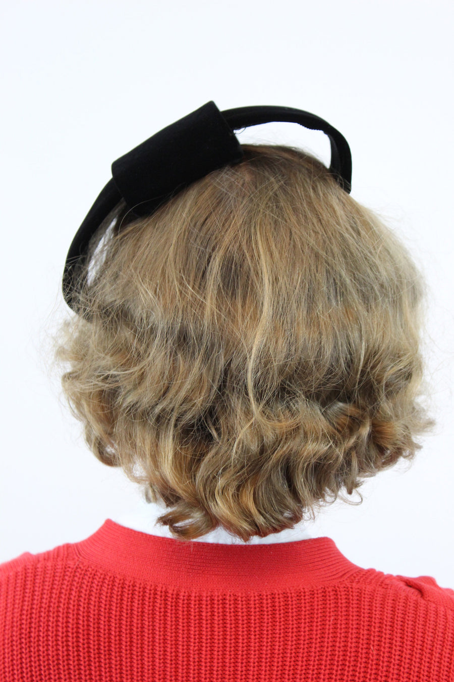 1960 bicycle clip hat | Bergdorf Goodman Mr. John | tilt fascinator