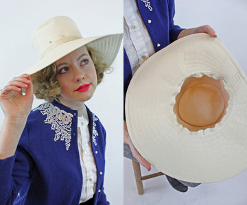 1950s fedora hat | wide brim sun hat | new in