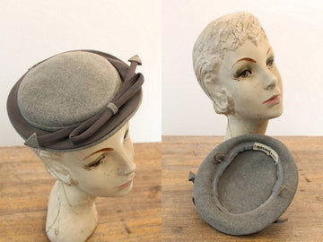 1940s tilt hat | arrow fascinator | I. Magnin