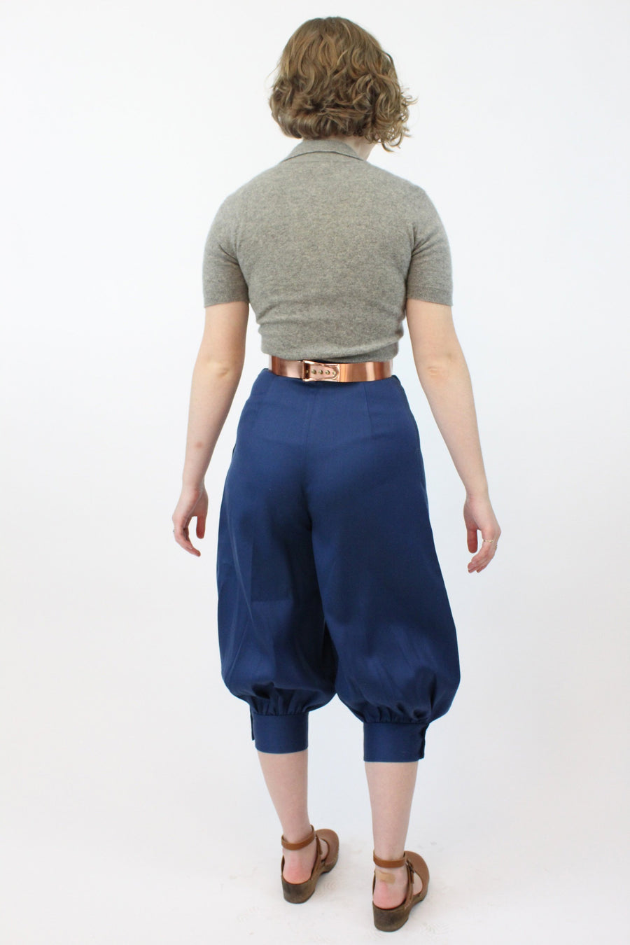 1950s jodhpurs pants xs | vintage cotton balloon pedal pushers