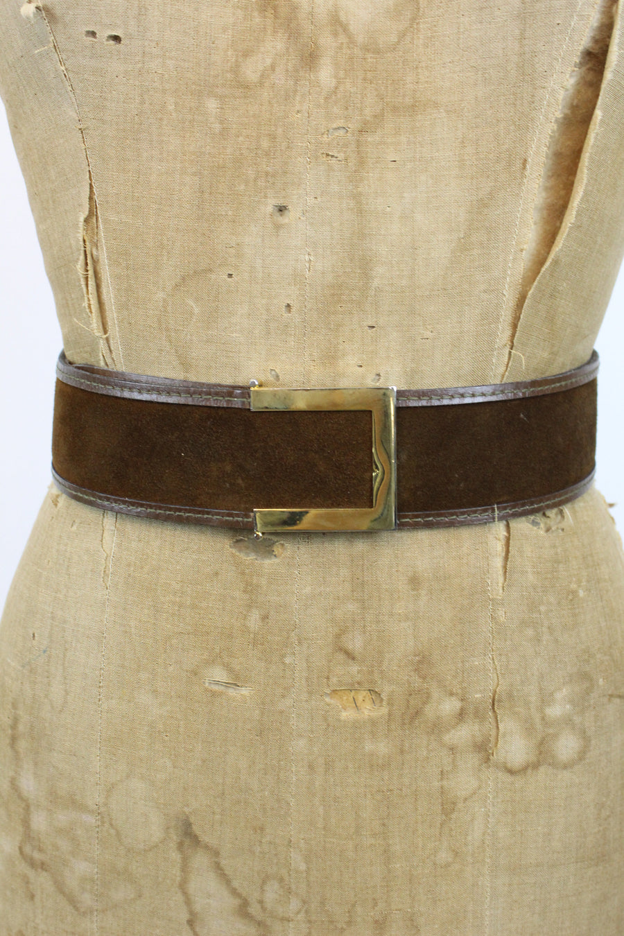 1960s Ann Klein suede belt | medium - large