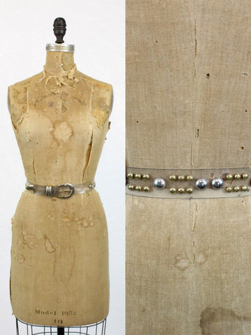 1970s studded lucite belt | medium large