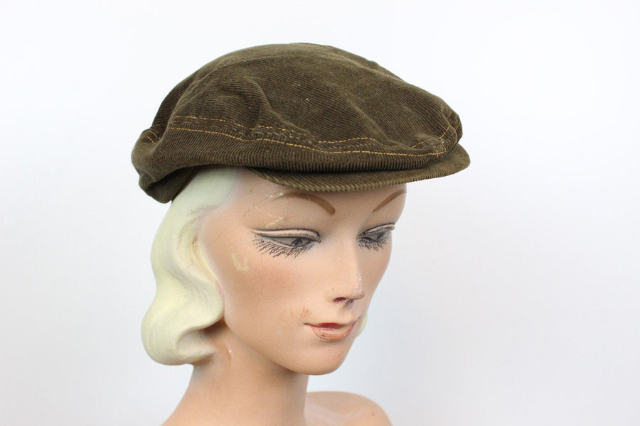 1960s Levi orange tab hat | corduroy cap | pageboy