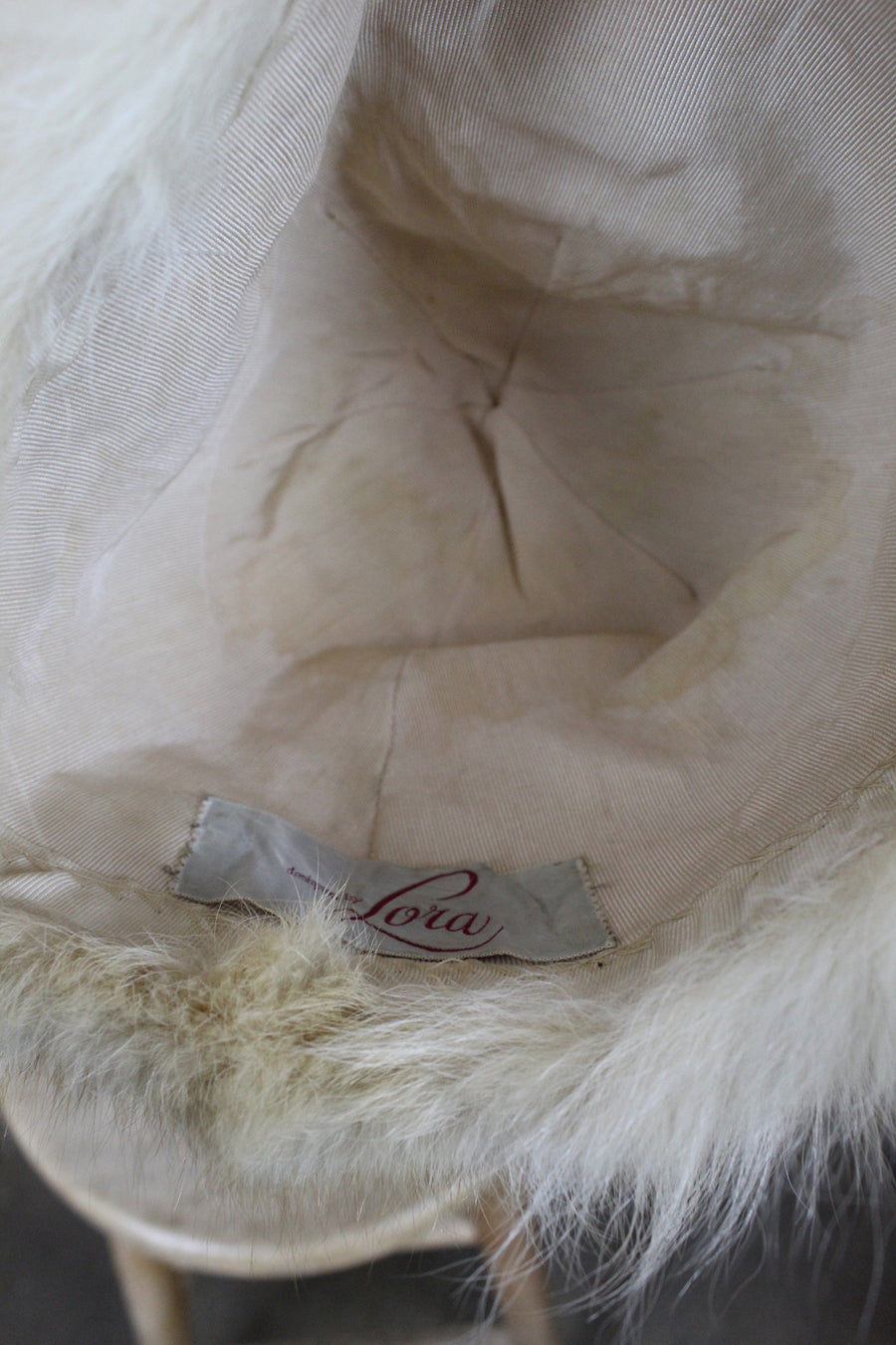 1950s fur hat | tall turban snow hat