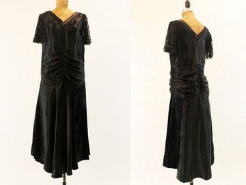 1920s silk dress | lace flapper titanic | small - medium