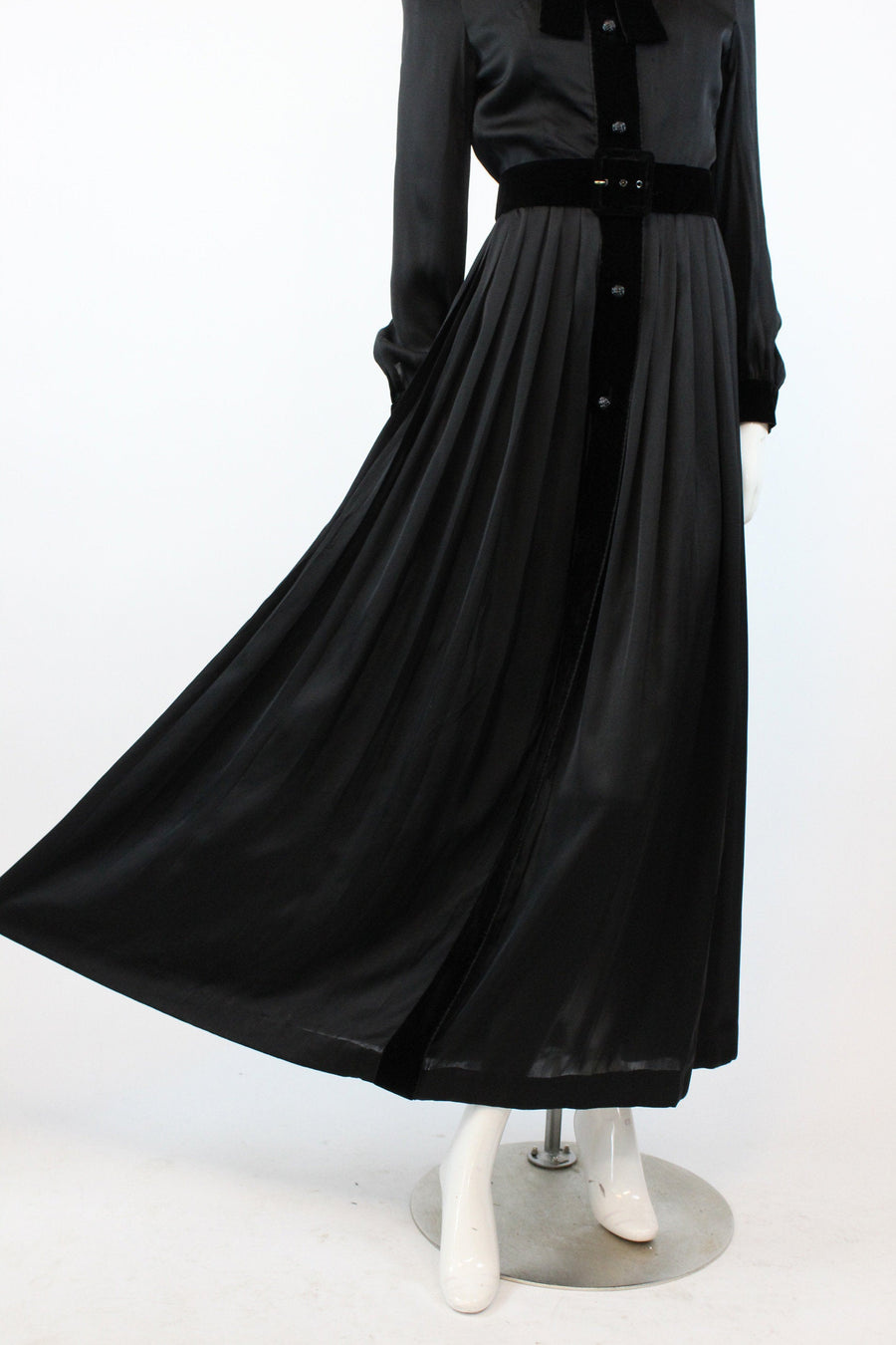 1970s GIVENCHY nouvelle boutique dress xs | silk chiffon designer gown | new in