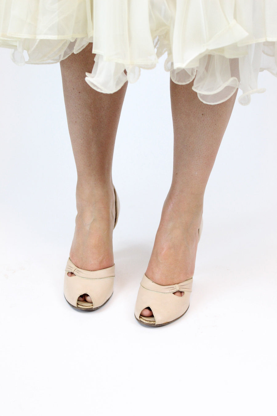 1950s QualiCraft shoes | peep toe pumps | size 6.5