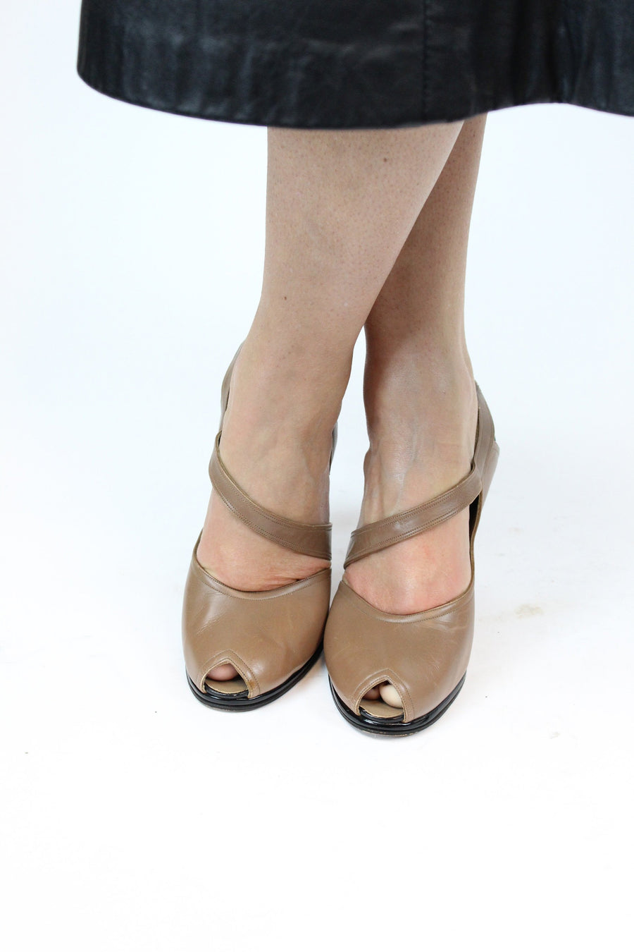 1950s I. Miller pumps | asymmetrical sling back | size 6