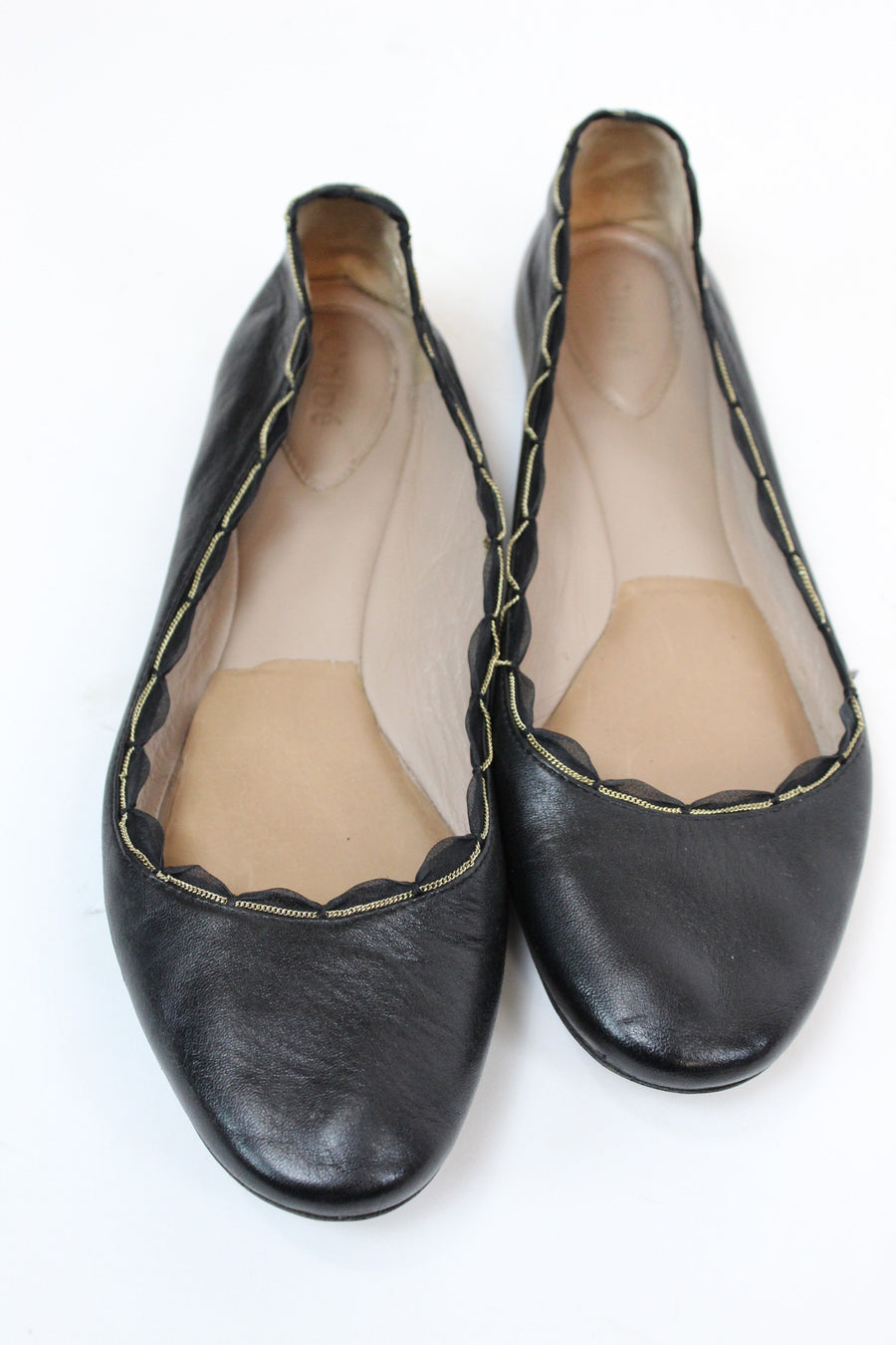 vintage Chloe butter leather and chain flats 39.5 EU | 8 US