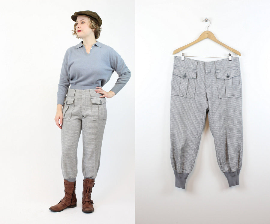 1960s LEVIS sportswear trousers | work wear knit pant | medium