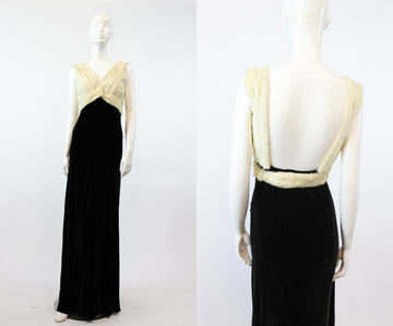 1930s silk velvet dress | bias cut Hattie Carnegie mink | xs
