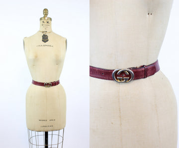 1980s Gucci leather belt | vintage Gucci designer oxblood leather belt unisex