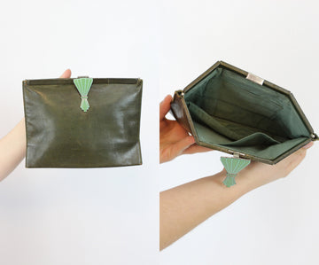 1930s clutch | art deco purse | accordion bag