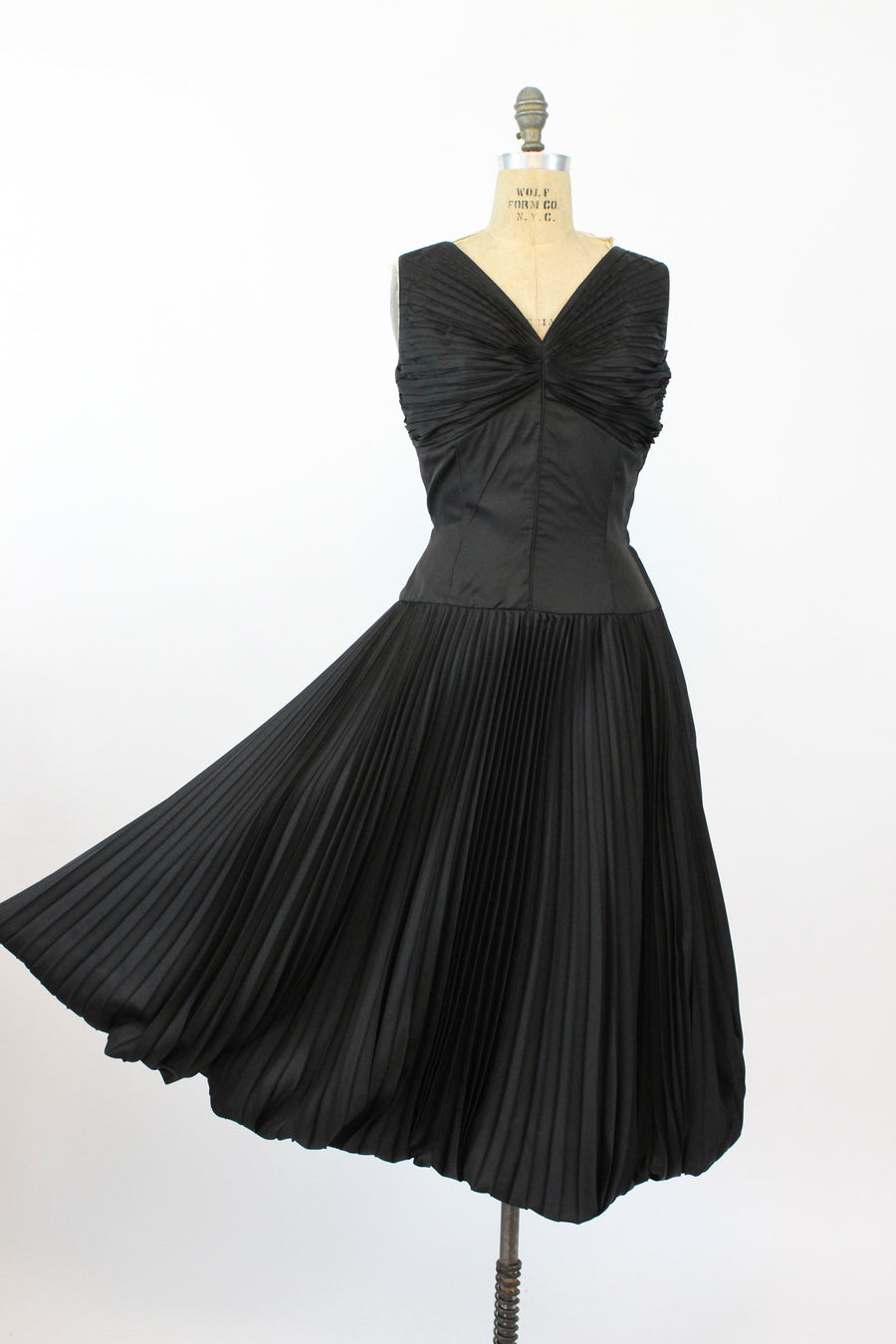 1950s Rare LILLI ANN dress | vintage full pleated bubble skirt | medium