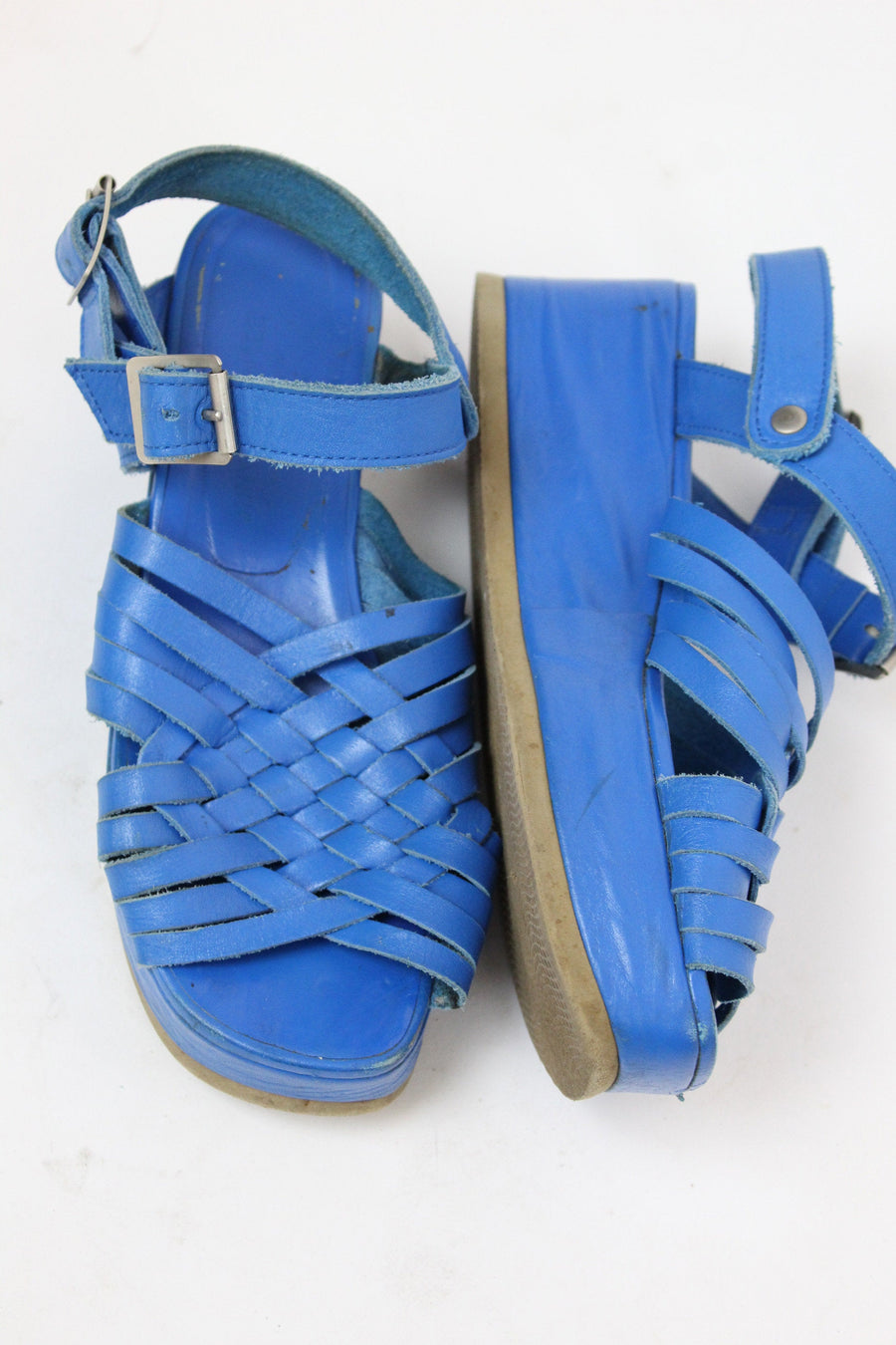 1990s Junya Watanabe Comme des Garcons | leather platform cage sandals | size 7